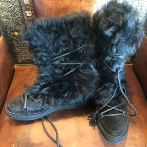 Frye Black Women's Gail Shearling Tall Winter Boot